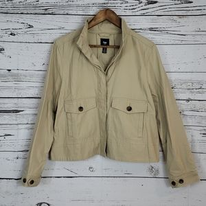 3/$15 Gap tan lightweight jacket medium